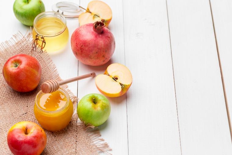 蜂蜜と果物