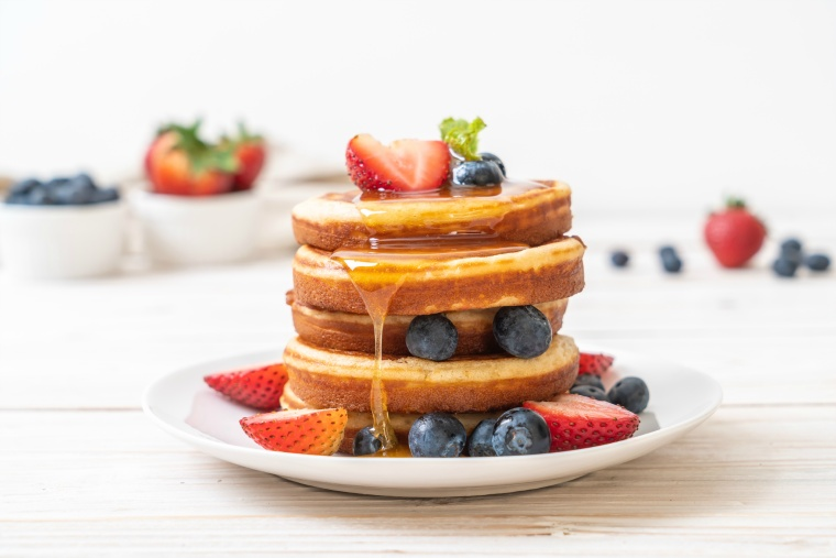 蜂蜜とパンケーキ